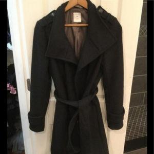 Grey Wool Gap Peacoat Winter Wool Jacket Coat